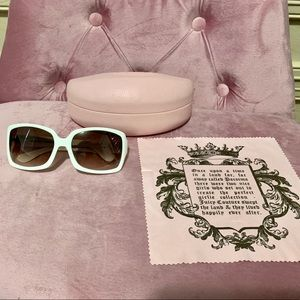 """Juicy Couture White """"Heiress"""" Sunglasses"""